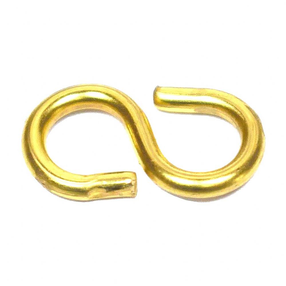 S-Hooks 18mm Brass Plated for Joining Picture Chain